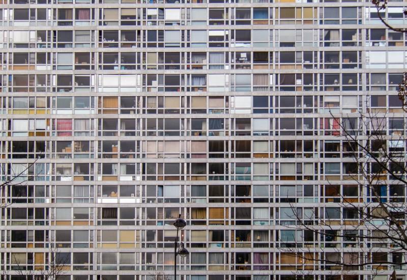 Wohngebäude am Gare Montparnasse, Paris, Frankreich